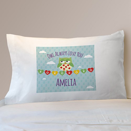 Personalized Owl Always Love You Kids Pillowcase D99972