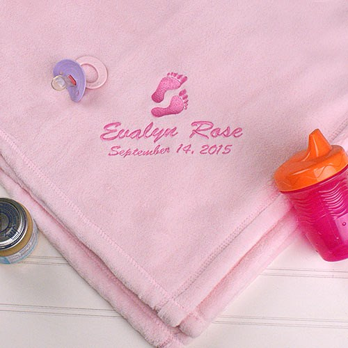 Personalized Baby Girl Fleece Blanket E9781194