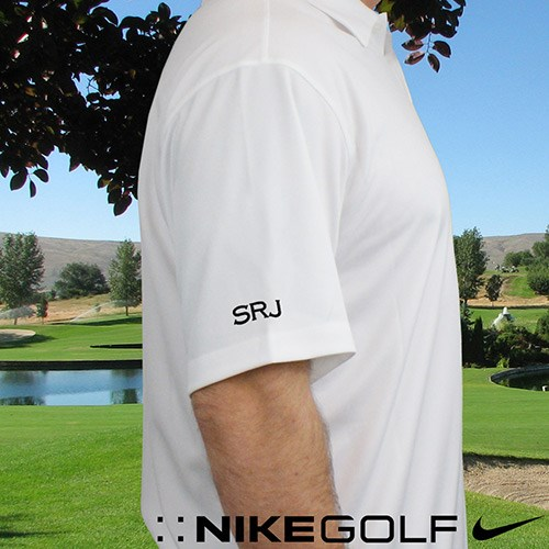 Embroidered White Monogrammed Nike Polo | Best Selling Father's Day Gifts