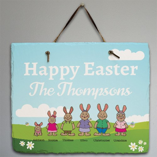 Personalized Bunny Family Slate 631100057