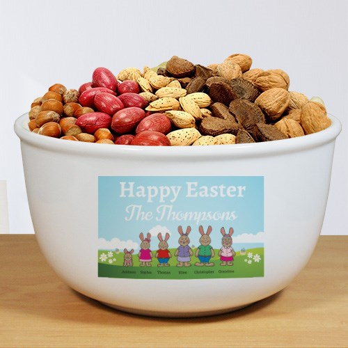Personalized Bunny Family Bowl U1000513