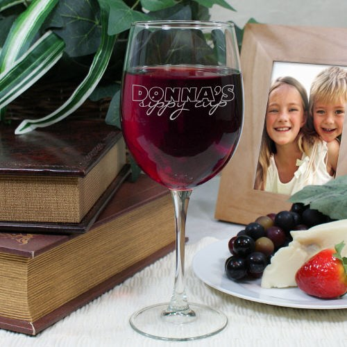 Engraved Sippy Cup Wine Glass | Personalized Kitchen Gifts