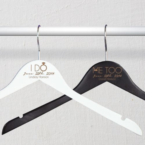 Engraved Bride and Groom Hangers L771477X