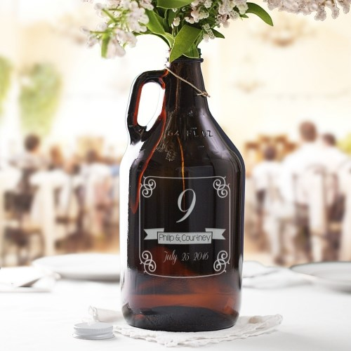 Wedding Table Number Growler L956879