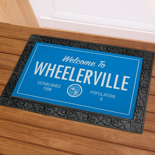 Custom Family Welcome Mat U817683X