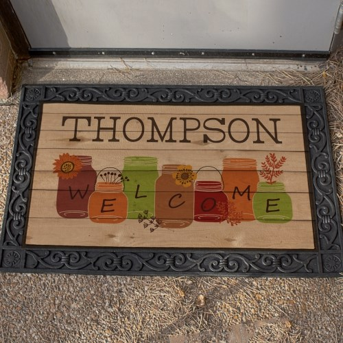 Fall Welome Personalized Doormat U968983X