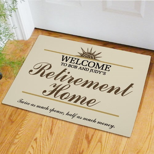 Custom Printed Retirement Doormat Gifts