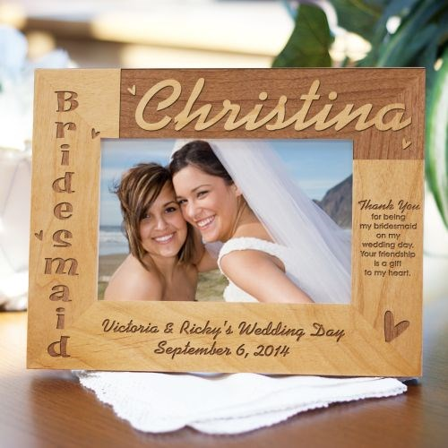 Bridesmaid Wood Picture Frame