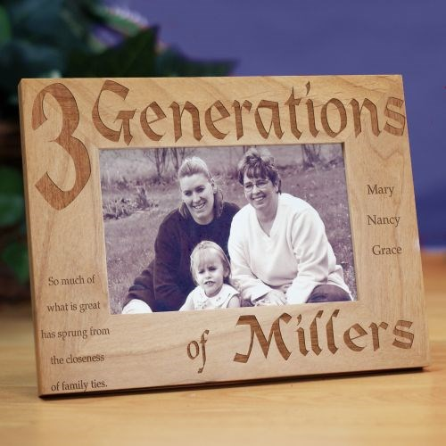 Generations Engraved Frame | Mother's Day Gifts