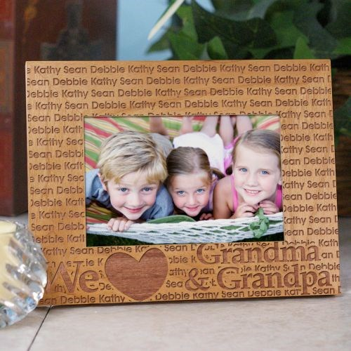 We Love... Personalized Wooden Picture Frame | Grandma Gift