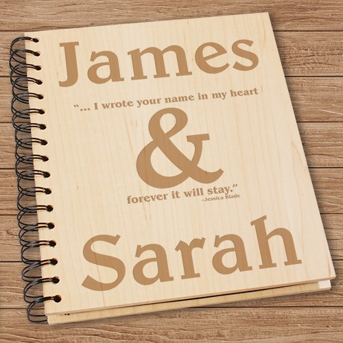 Engraved Wedding Photo Album