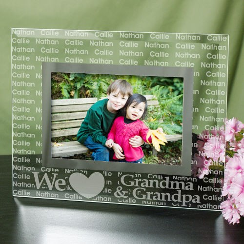 Personalzied We Love You Glass Picture Frame