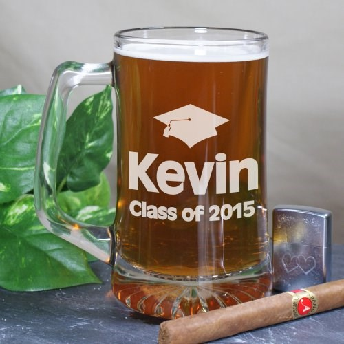 Class of 2013 Engraved Graduation Beer Mug