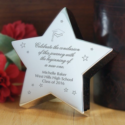 Engraved Graduation Silver Star Keepsake 8526660
