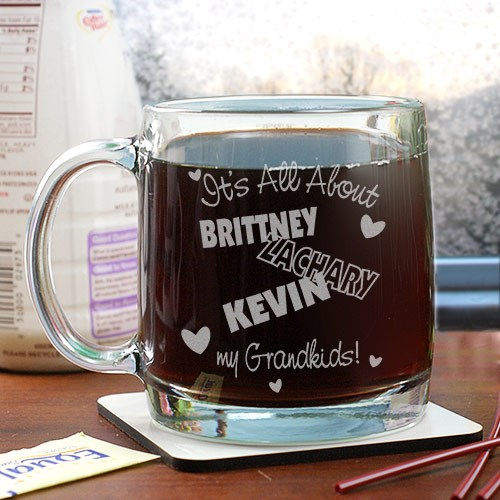 Personalized It's All About Glass Mug G26900