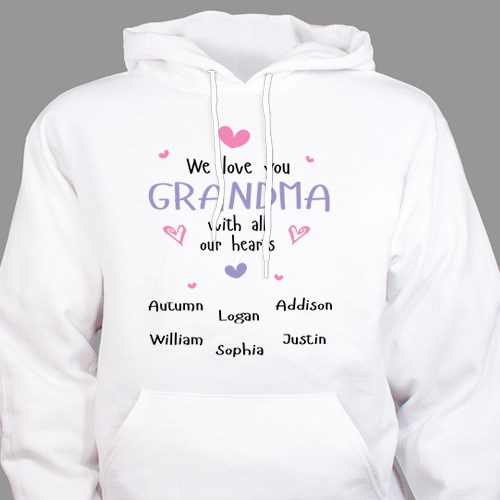 Personalized Grandma Hooded Sweatshirt | Personalized Gifts for Grandma
