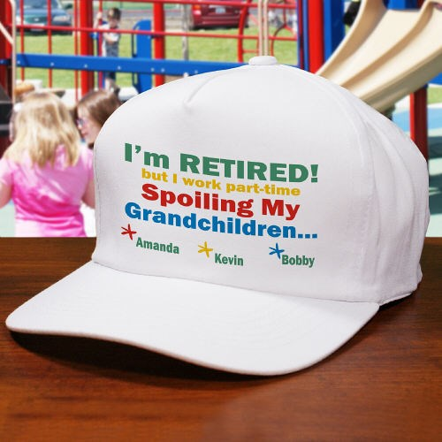 Personalized Retirement Hats for Fathers Day