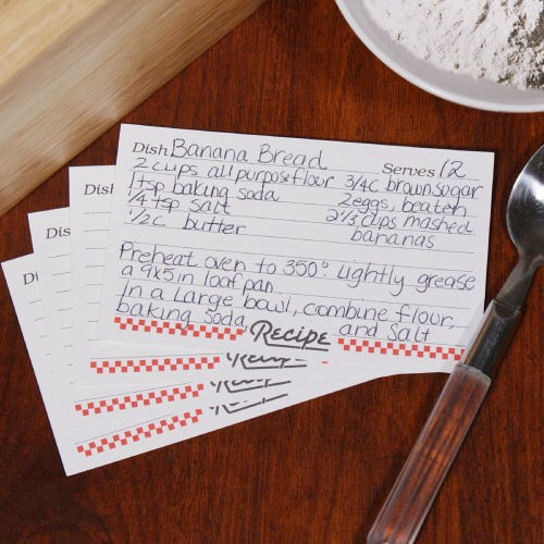 3x5 Recipe Cards RECIPECARDS35