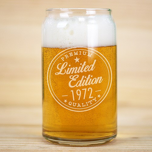 Engraved Limited Edition Beer Can Glass L1052811