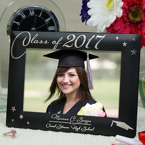 Engraved Black Graduation Picture Frame L588718X