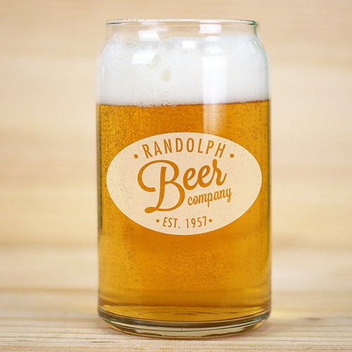 Personalized Any Name Beer can Glass L7689118