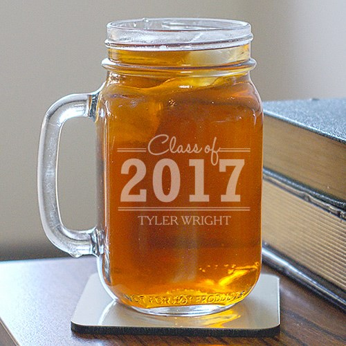 Engraved Graduation Mason Jar | Personalized Graduation Gifts