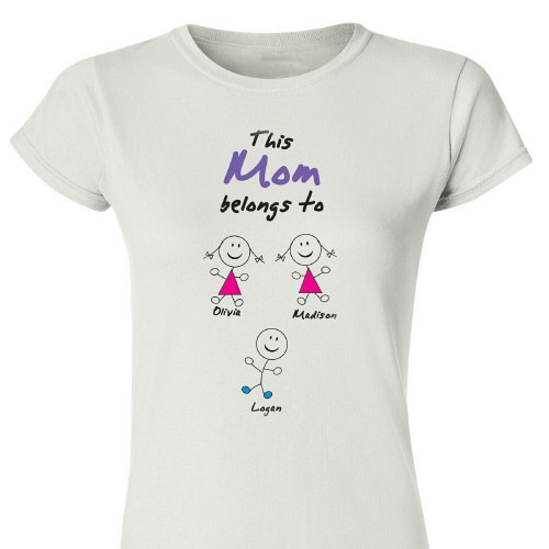 Belongs To... Personalized Ladies' Fitted T-Shirt 912507X