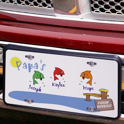 Fishing Buddies License Plate