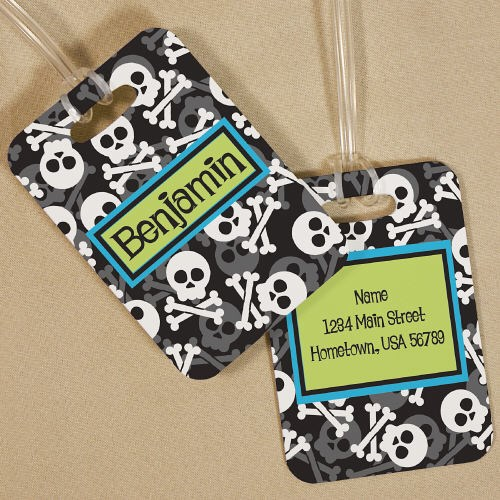Personalized Skull and Cross Bones Bag Tag 4167854