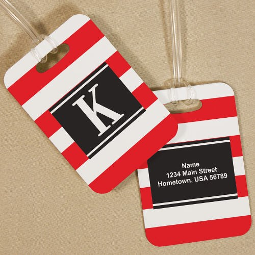 Personalized Stripes Bag Tag 4167864