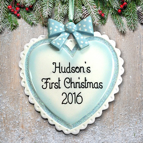 Personalized Baby Boy Heart Ornament M1073960