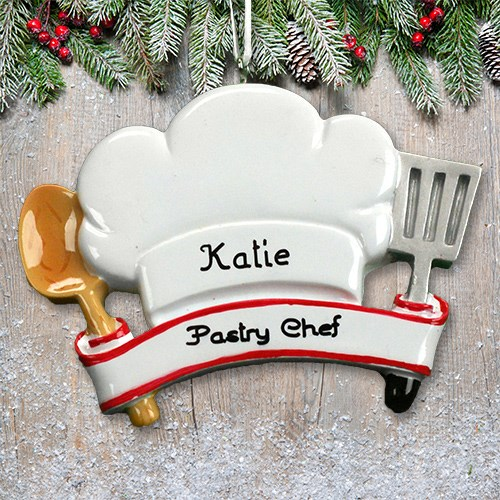Personalized Chef Hat Ornament M1074465