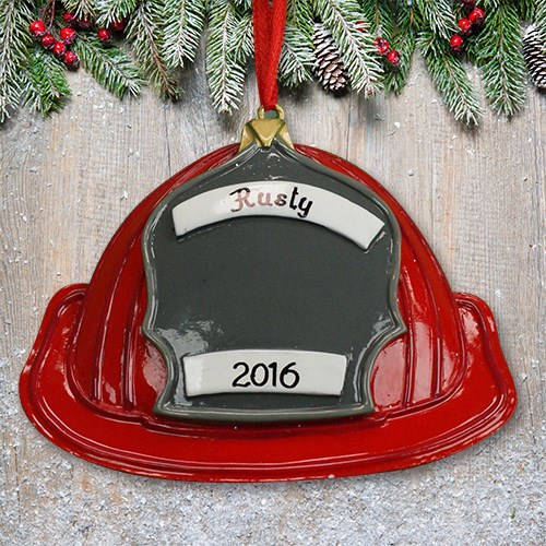 Personalized Fireman Hat Ornament M10753101