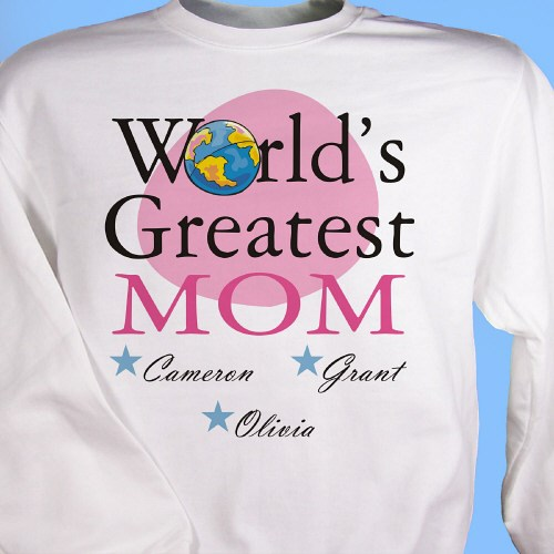 Personalized Mother's Day Sweatshirts