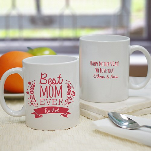 Personalized Best Mom Mug | Personalized Kitchen Gifts