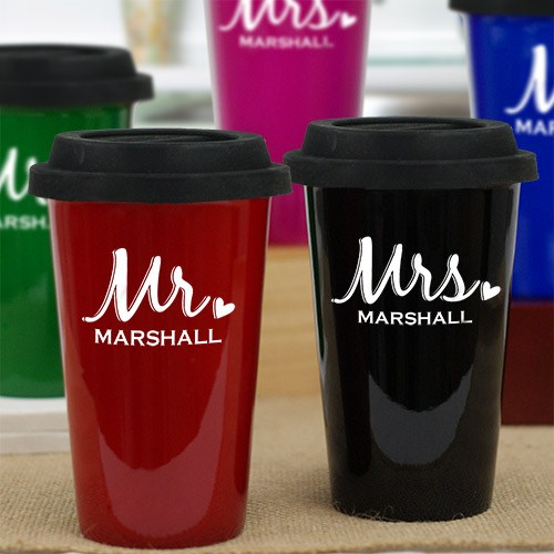 Personalized Mr. and Mrs. Latte Mug L944213X