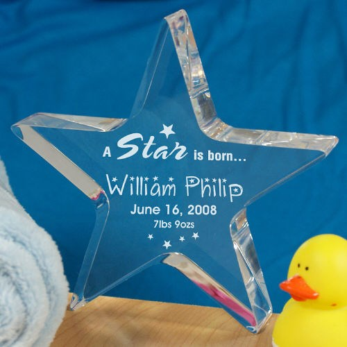 Personalized A Star Is Born Star New Baby Keepsake