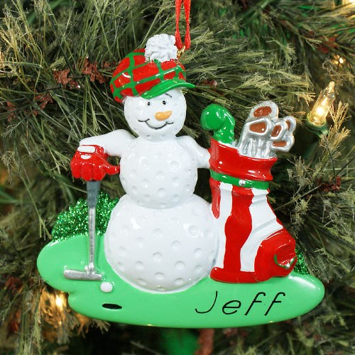 Personalized Golf Ball Golfer Ornament 849133
