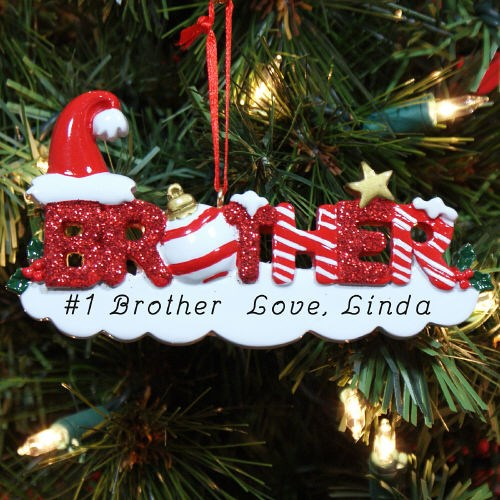 Custom Printed Brother Christmas Ornaments