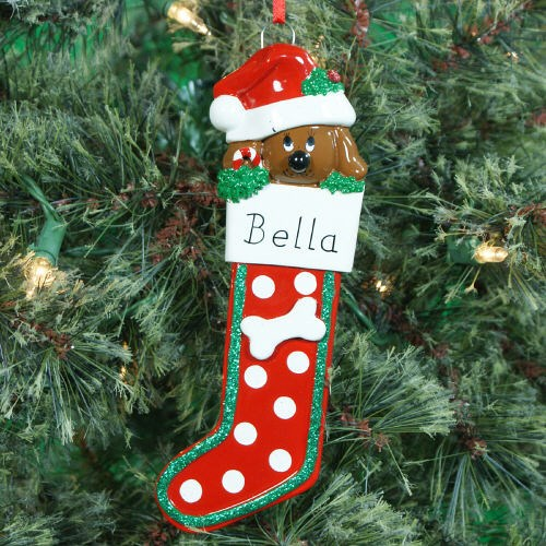 Personalized Dog Stocking Ornament 861343