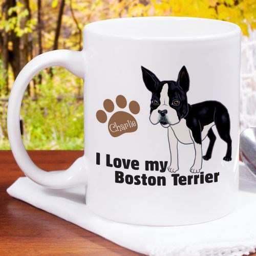 Personalized I Love My Boston Terrier Mug 27070BT0X