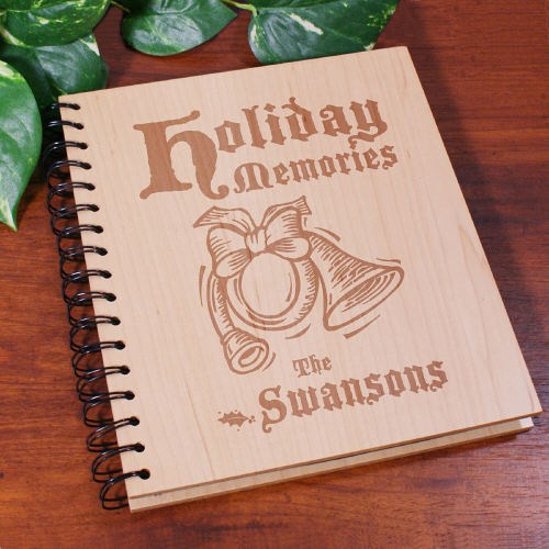 Holiday Memories Personalized Wood Photo Album