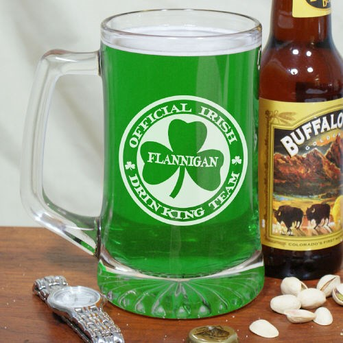 Irish Drinking Team Glass Mug
