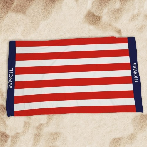 Personalized USA Pride Beach Towel U777333