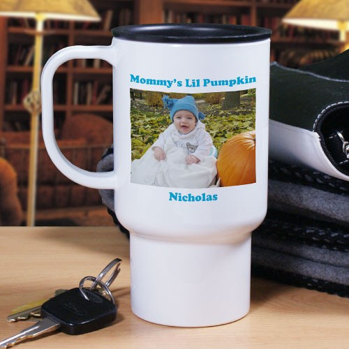 Custom Printed Photo Travel Mug