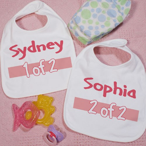 Personalized Twin Bib