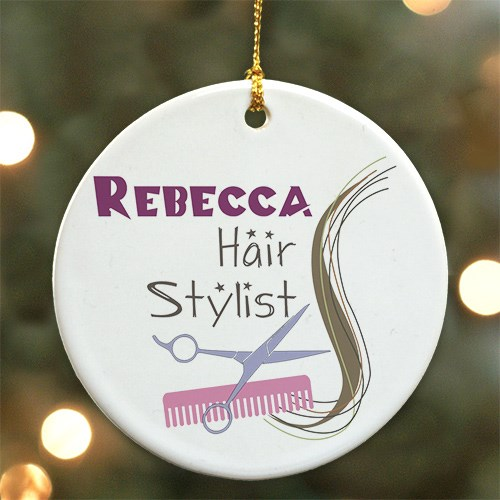 Hair Stylist Personalized Ceramic Ornament U292910