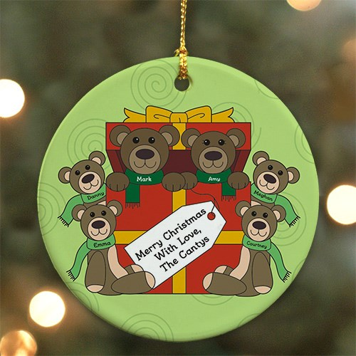 Teddy Bear Personalized Family Ornament U370610