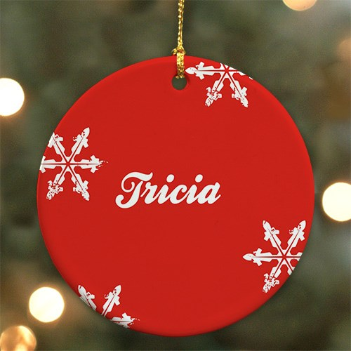 Snowflake Personalized Ceramic Ornament U371910