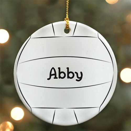 Volleyball Personalized Ceramic Ornament U372510